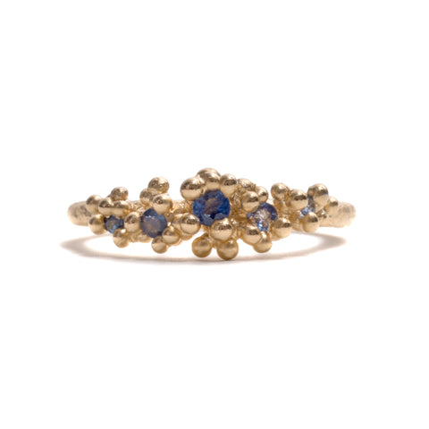 Sapphire with Granules Ring by Ruth Tomlinson