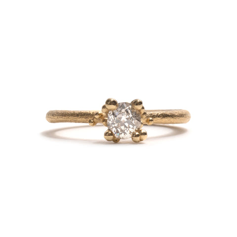 Solitaire Antique Diamond Ring by Ruth Tomlinson