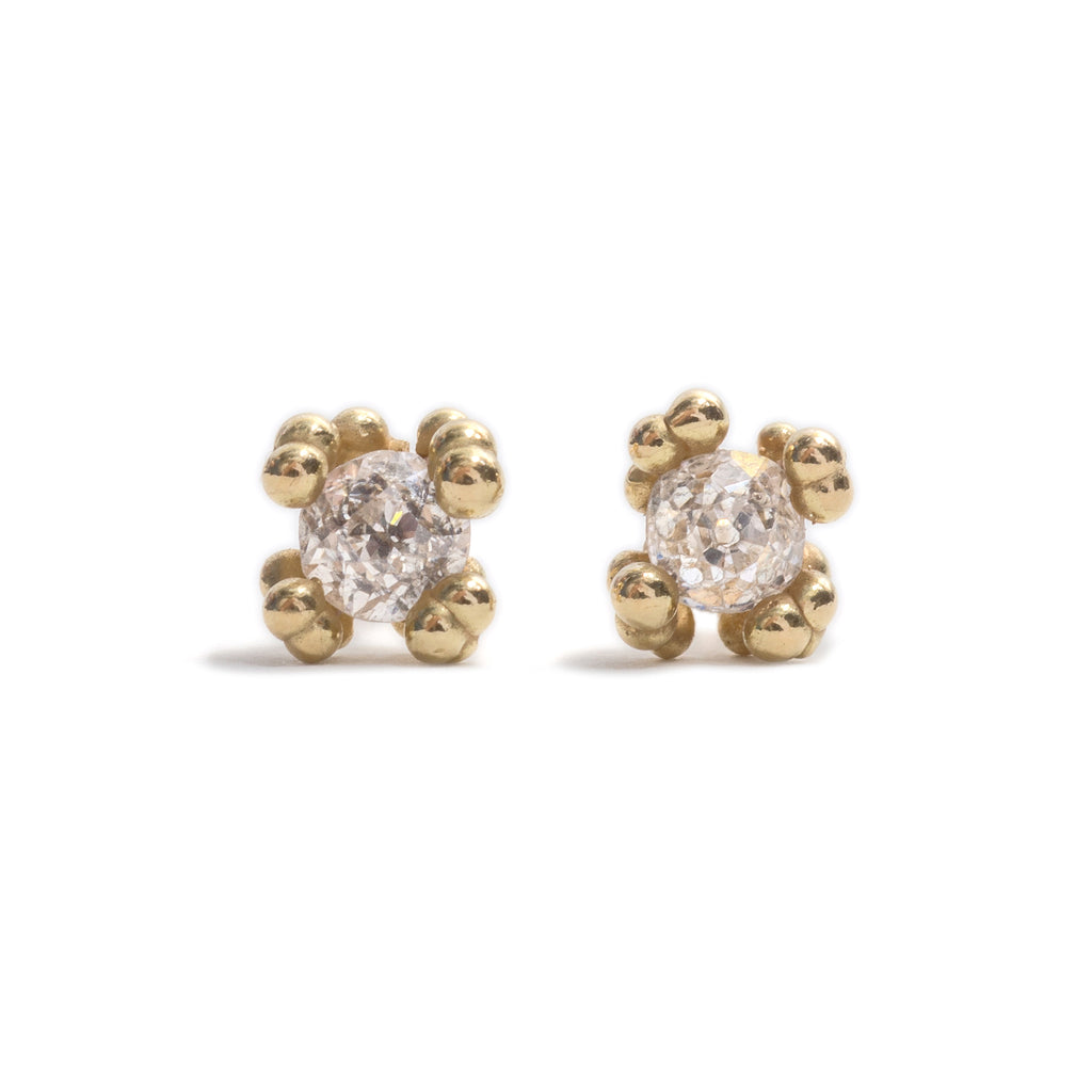 Solitaire Diamond Stud Earrings