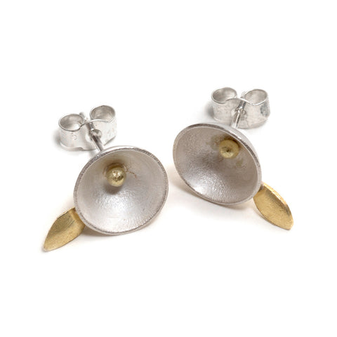 Acorn Petal Stud Earrings by Shimara Carlow