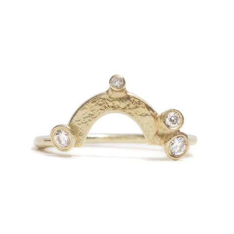 Fitted Diamond Wedding Ring by Shimara Carlow