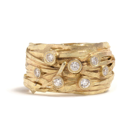 Diamond Wrap Ring by Shimara Carlow