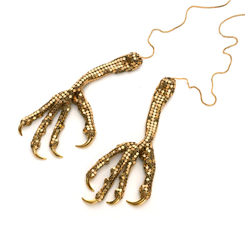 Chicken Feet Neckpiece by Sian Edwards