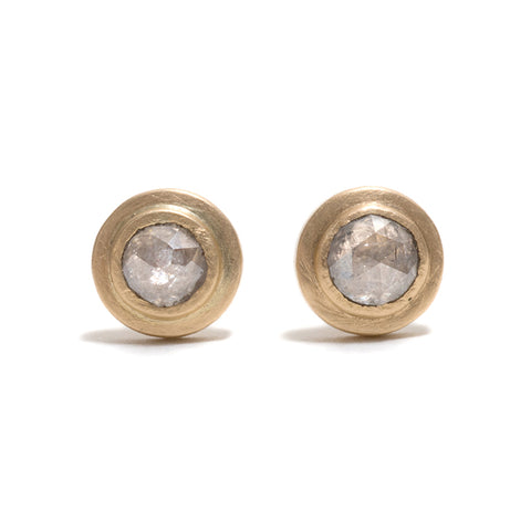 Arctic Ice Diamond Stud Earrings