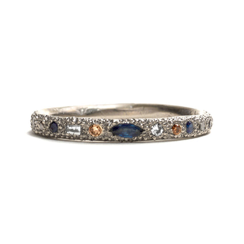 Eternal Love Diamond and Sapphire Ring