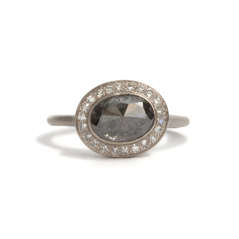 Diamond Halo 1 Ring by Suzi Zutic