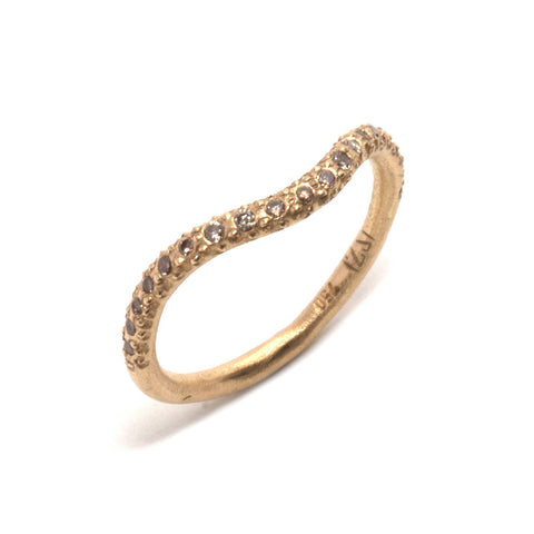 Indus Summer Curved Wedding Ring