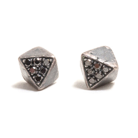 Stealth Black Diamond Earrings by Tessa Blazey