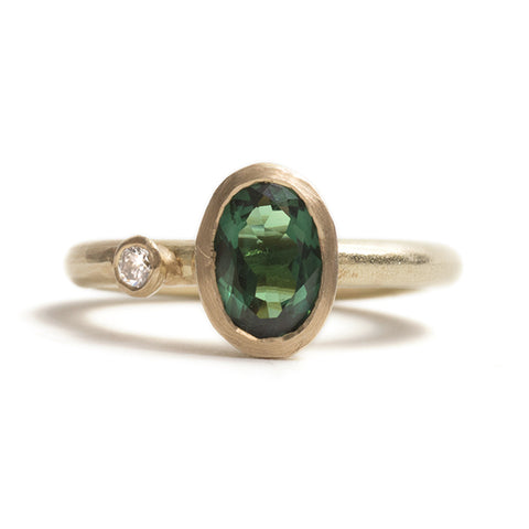 Oval Tourmaline and Diamond Ring by Shimara Carlow