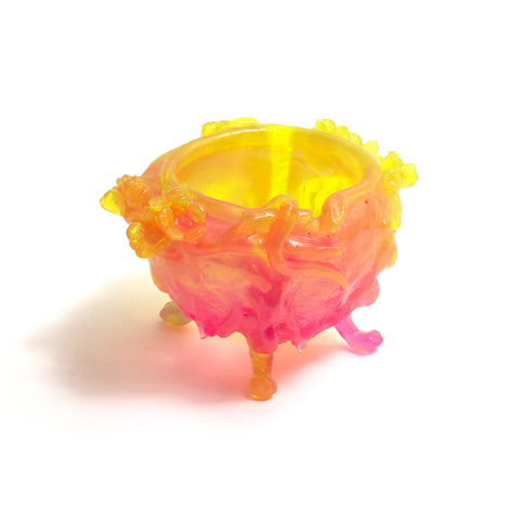 Small Paw Bowl (Orange, Yellow, Pink)
