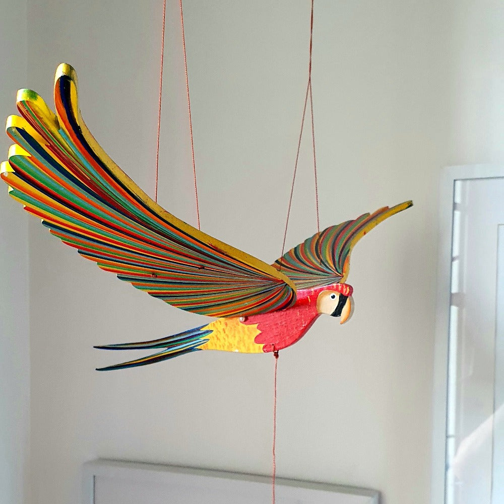 Parrot Macaw Flying Bird Mobile
