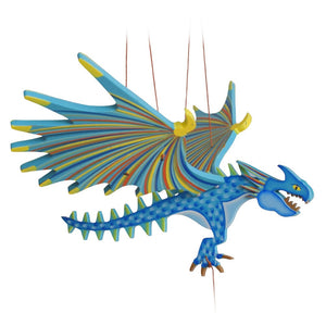 Spike Dragon flying mobile. Ethical Home Decor. Handmade & Hand-painted in colombia.