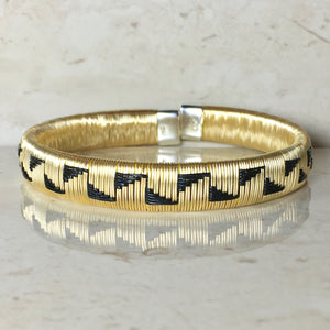 Gold & Black Bangle Bracelet - Choose your design