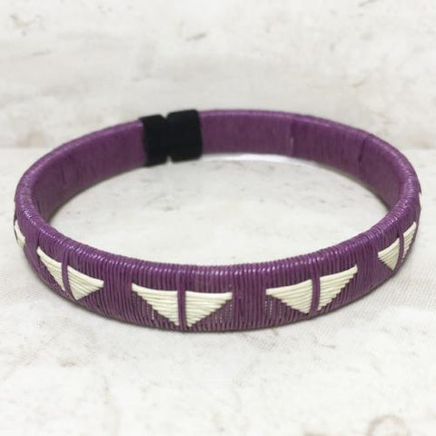 Friendship Bracelet - Purple Butterfly Design - Unique Handmade Gift