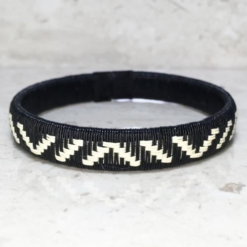 Black & White Friendship Bracelet Mountain Unique Handmade Gift