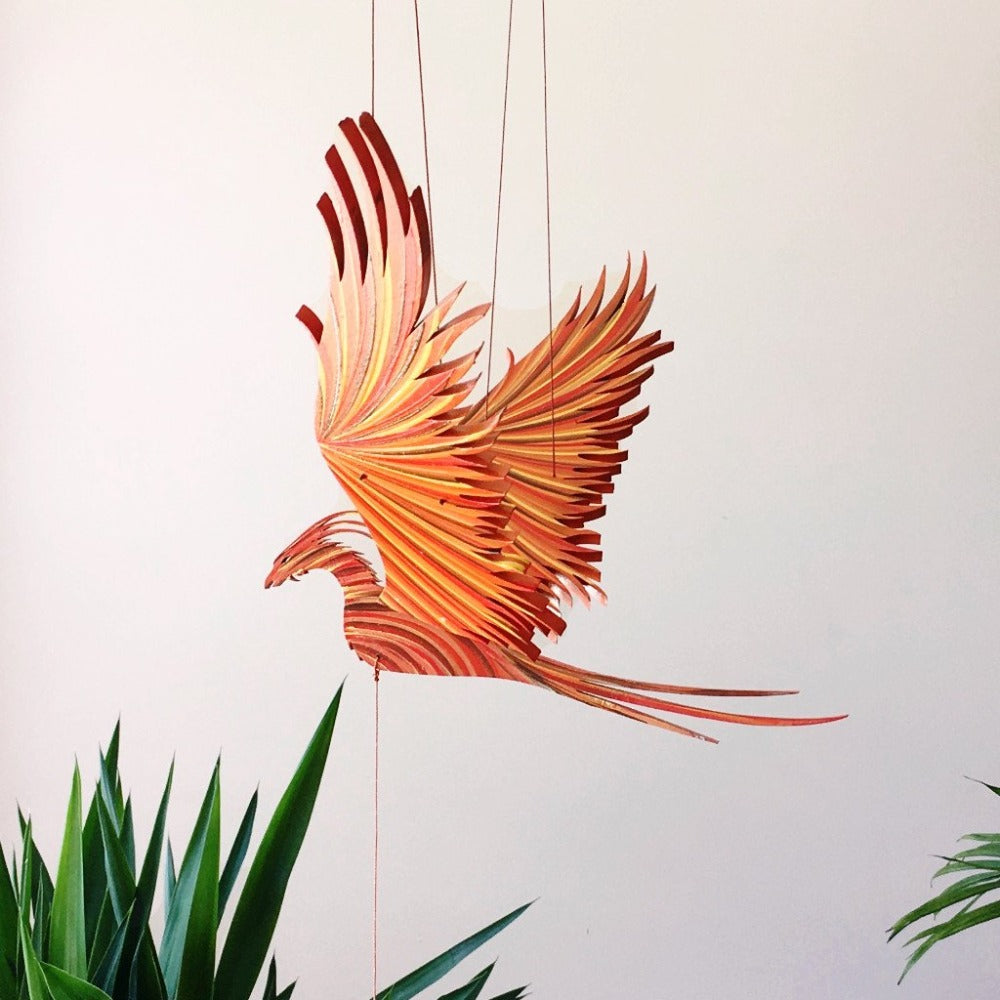 Phoenix Flying Bird Mobile - Unique Handmade Gift