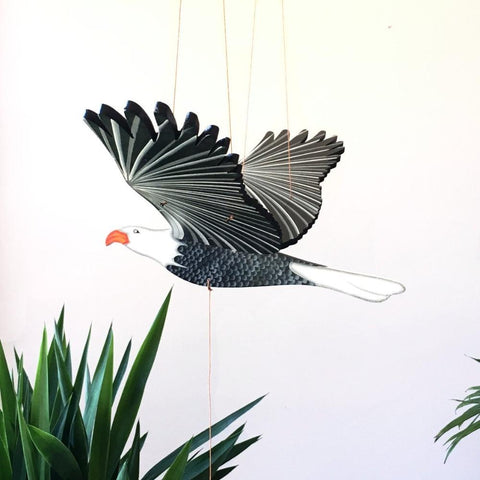 American Bald Eagle Flying Mobile - Handmade Gift - Home Decor