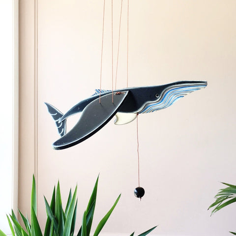 Whale Flying Mobile - Unique Handmade Gift
