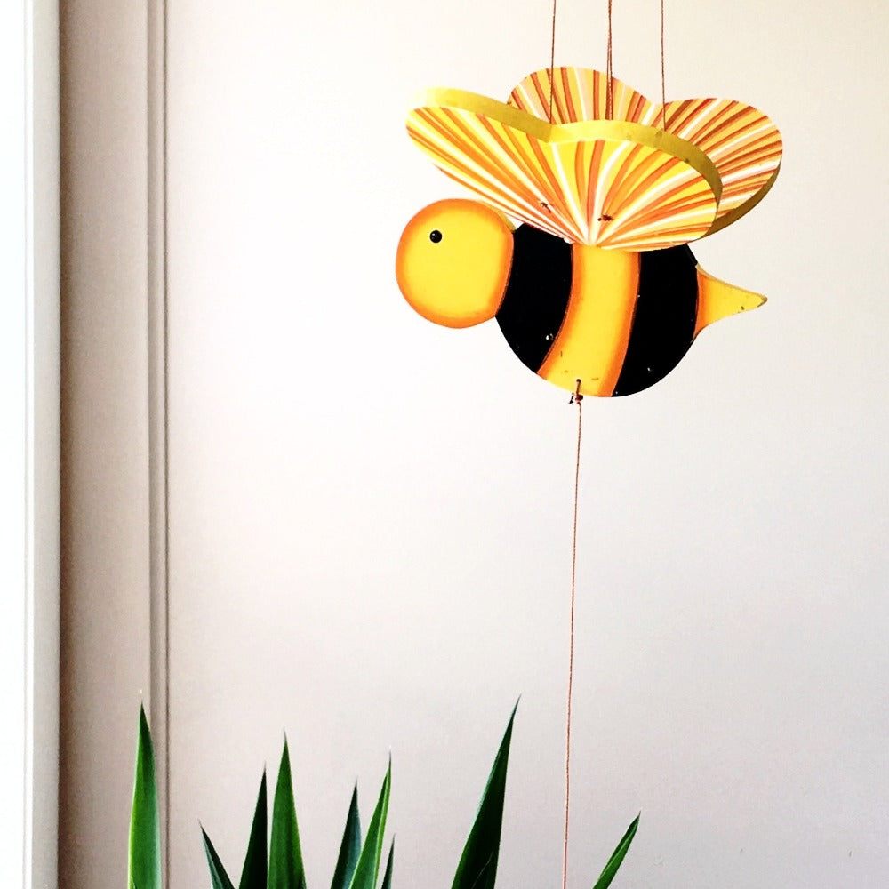 Bumble Bee Flying Mobile - Ethical Handmade Gift - Home Decor
