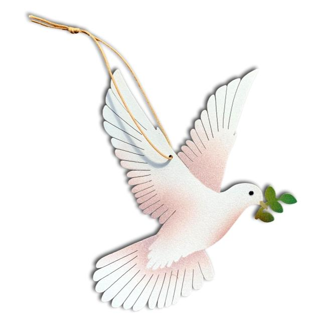 Peace Dove Ornament holiday christmas card fair trade handmade