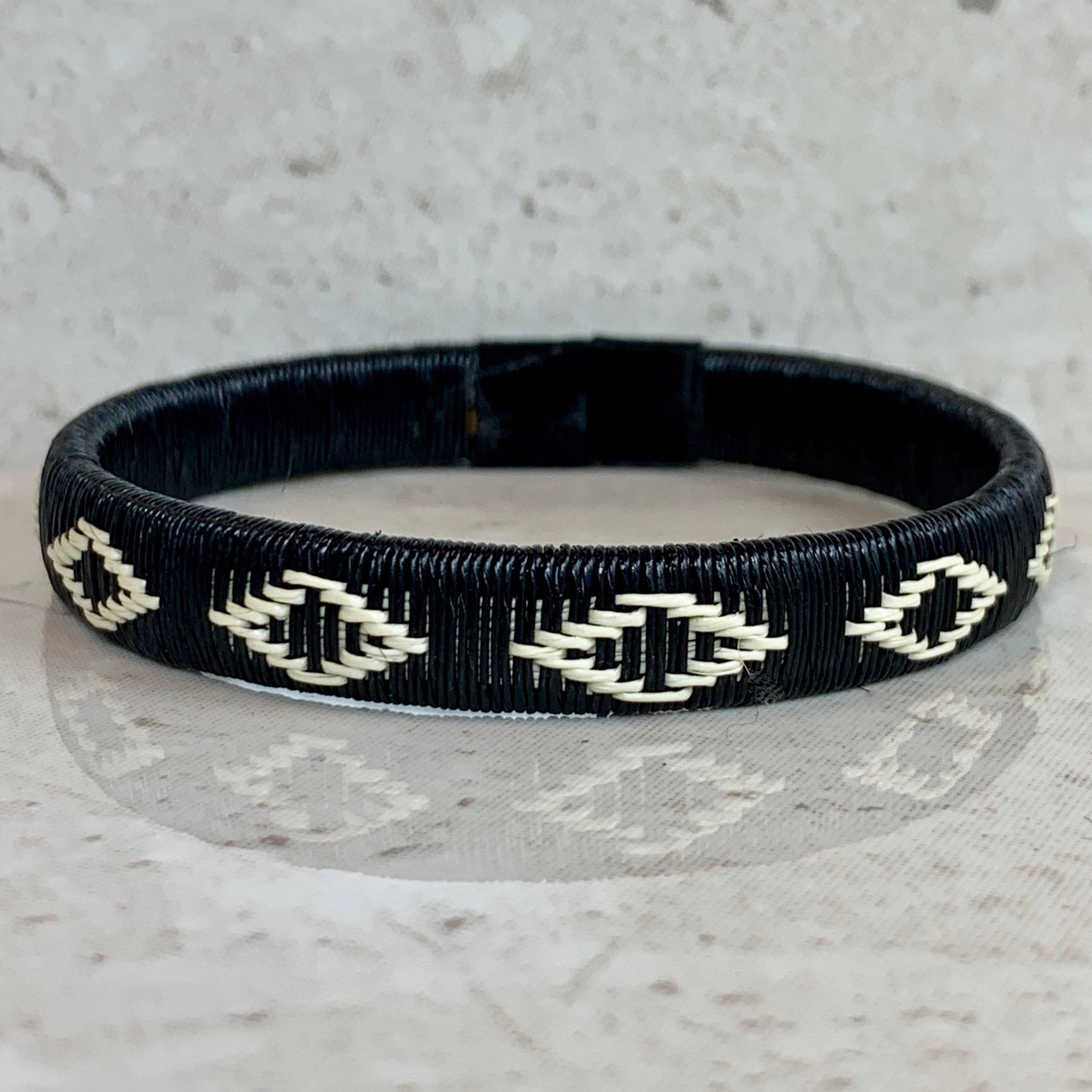 Black & White Friendship Bracelet island Colombia sustainable ethical casual