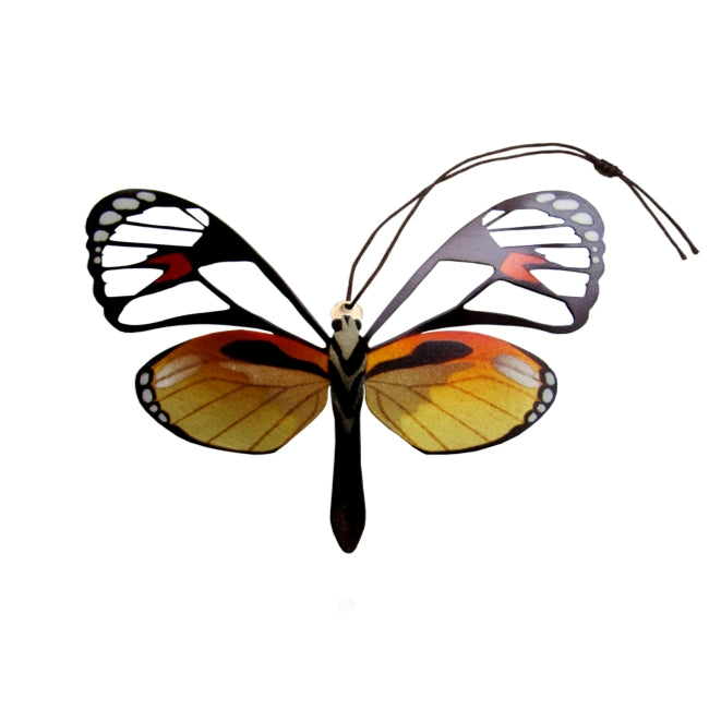 Glasswing butterfly ornament handmade wholesale