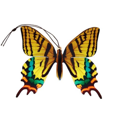 Tiger Swallowtail Butterfly Ornament (Papilio glaucus)