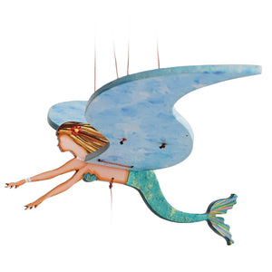 Mermaid Flying Mobile.  Handmade & Handpainted in Colombia. Ethical home decor.
