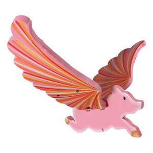 Flying Pig Mobile. Ethical Home Decor. Handmade & Handpainted in Colombia. Hogs, Show Pigs.