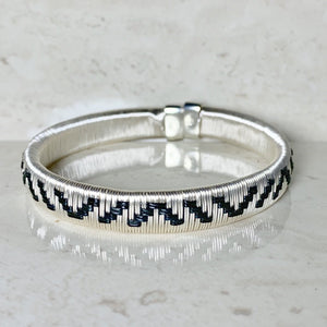 Silver Black ethically made bracelet bangle colombia jewelry elegant formal capsule wardrobe