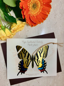 Tiger Swallowtail Butterfly Ornament Home decor gift Handmade garden notecard thank you sympathy condolence get well birthday
