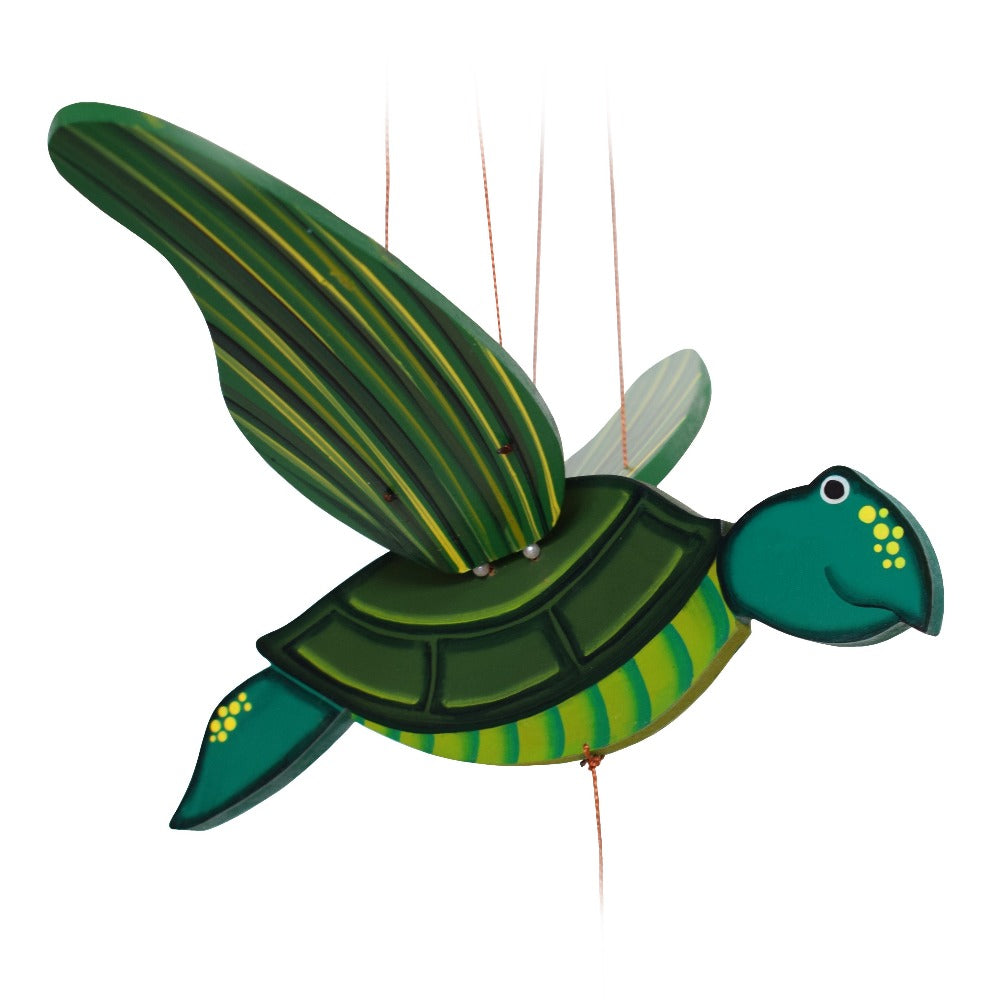 Turtle Flying Mobile.  Ethical Home Decor. Handmade in Colombia.