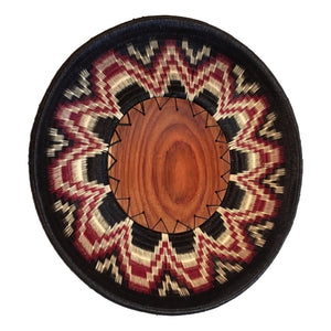 Wounaan Art Plate Basket WP031 - Fair Trade -  Indigenous Art - Unique Handmade Gift