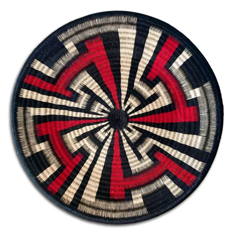 Wounaan Art Plate Basket WP046 - Fair Trade -  Indigenous Art - Unique Handmade Gift