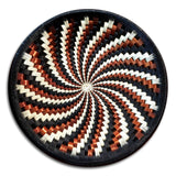 Wounaan Art Plate Basket WP051 - Fair Trade - Indigenous Art - Black, White, Copper