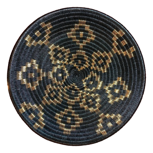 Wounaan plate wall hanging boho chic basket woven handmade fairtrade