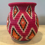 Wounaan Art Vase Basket WV028 - Unique Handmade Gift