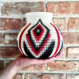 Wounaan Art Vase Basket WV031 - Unique Handmade Gift