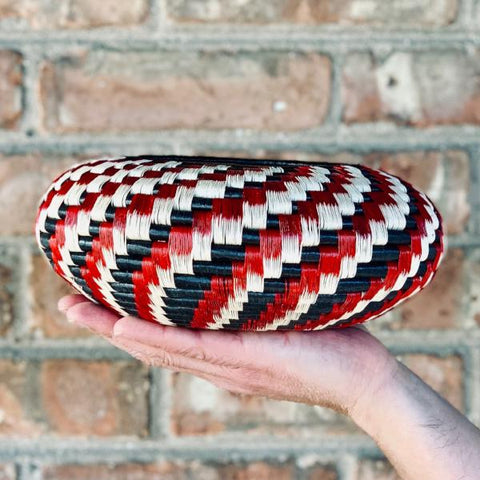 Wounaan Folk Art Vase Basket WV051 - Unique Handmade Gift