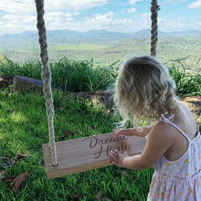 Load image into Gallery viewer, Personalised Wooden Tree Swing