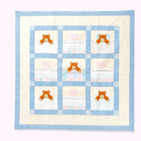 Snoozing Teddy Baby Blanket