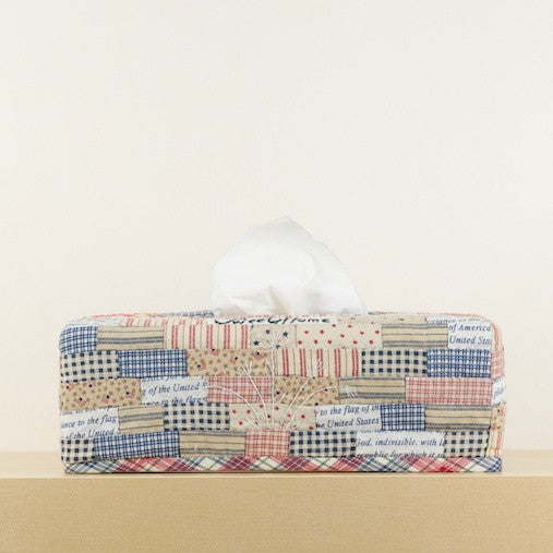 """Americana"" Rectangular Tissue Box Cover"