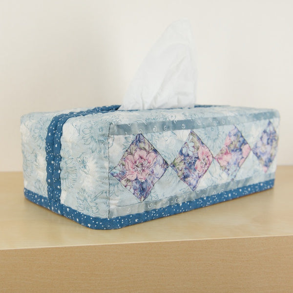 """Squares"" Patchwork Rectangular Tissue Box Covers"