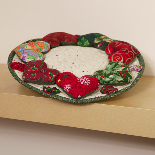 Christmas Hearts Decorative Centerpiece