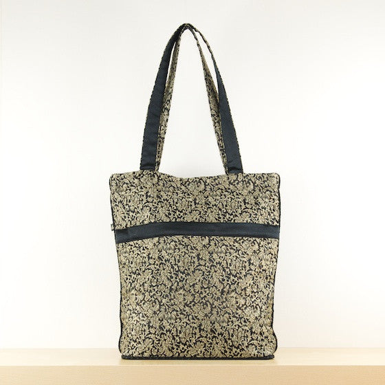 Golden Floral Silk Bag