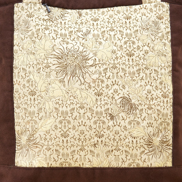 Golden Squares Silk Bag