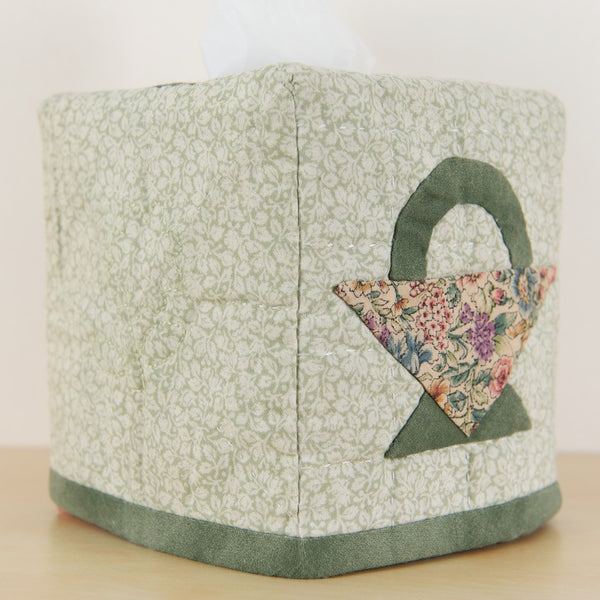 """Basket"" Patchwork Tissue Box Cover"
