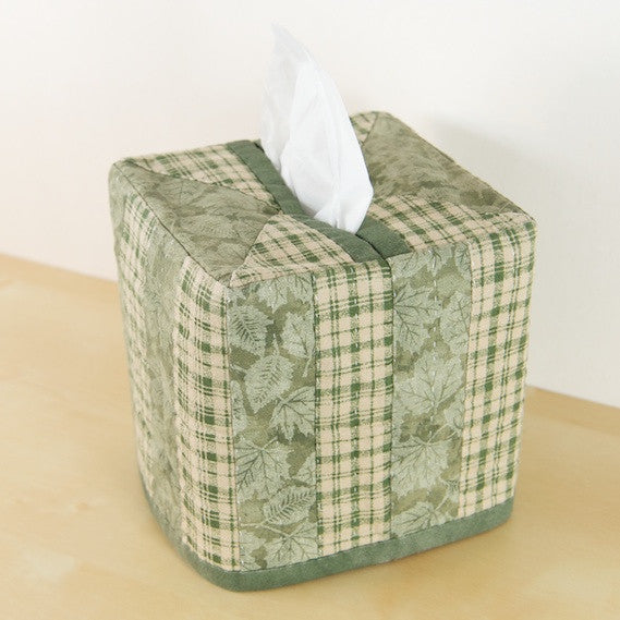 """Striped"" Patchwork Tissue Box Cover"
