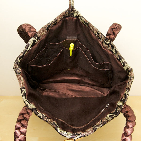 Lotus Silk Bag