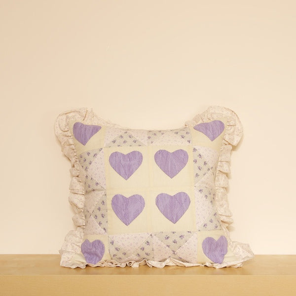 Ruffled Hearts Cushion Cover